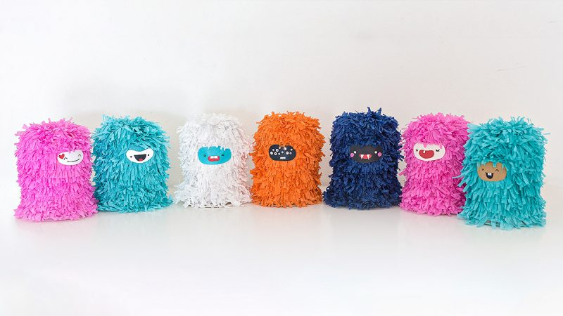 Colorful mishloach manot Piñata designed by Grizzly Workshop