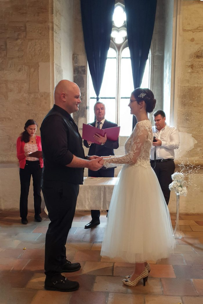 Wedding ceremony at the Stone Bell House in Prague
